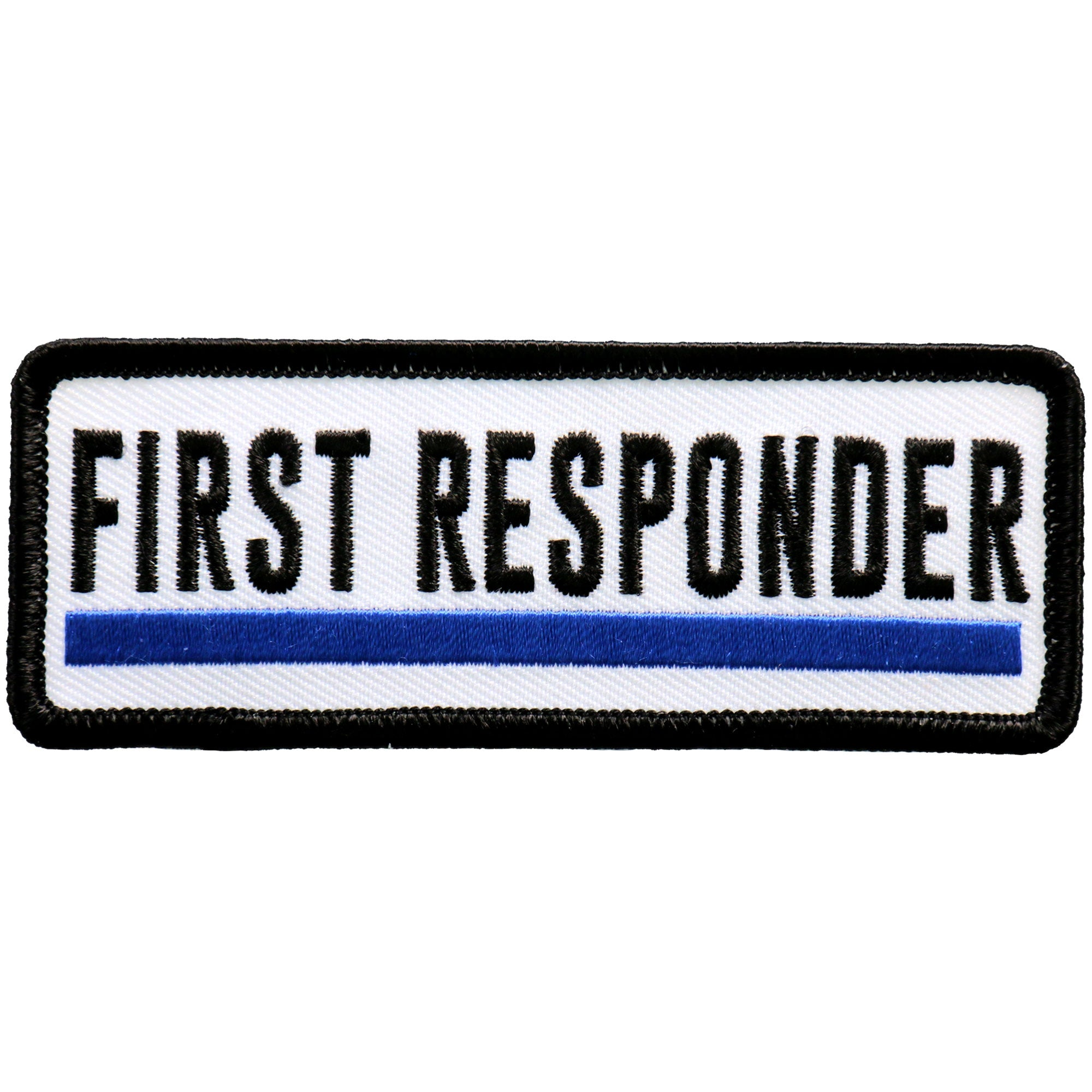 "Hot Leathers First Responder Blue Line 4"" Patch"
