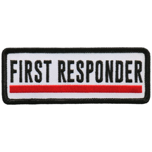 "Hot Leathers First Responder Red Line 4"" Patch"