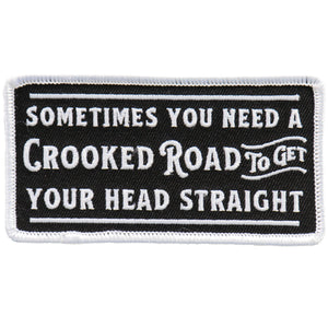 "Hot Leathers Crooked Road 4"" Patch"