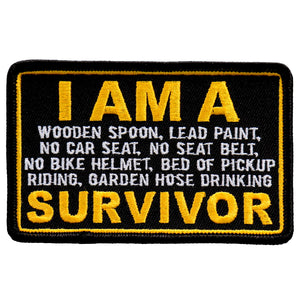 "Hot Leathers I Am A Survivor 4"" Patch"