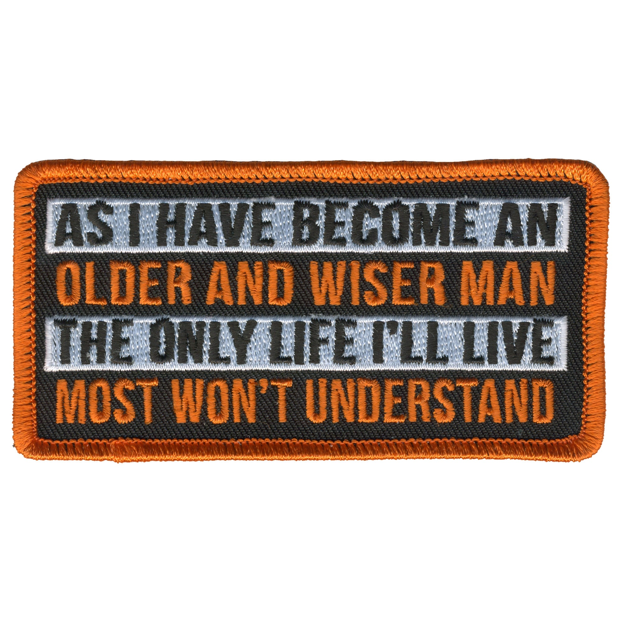 Hot Leathers Patch Wiser Man