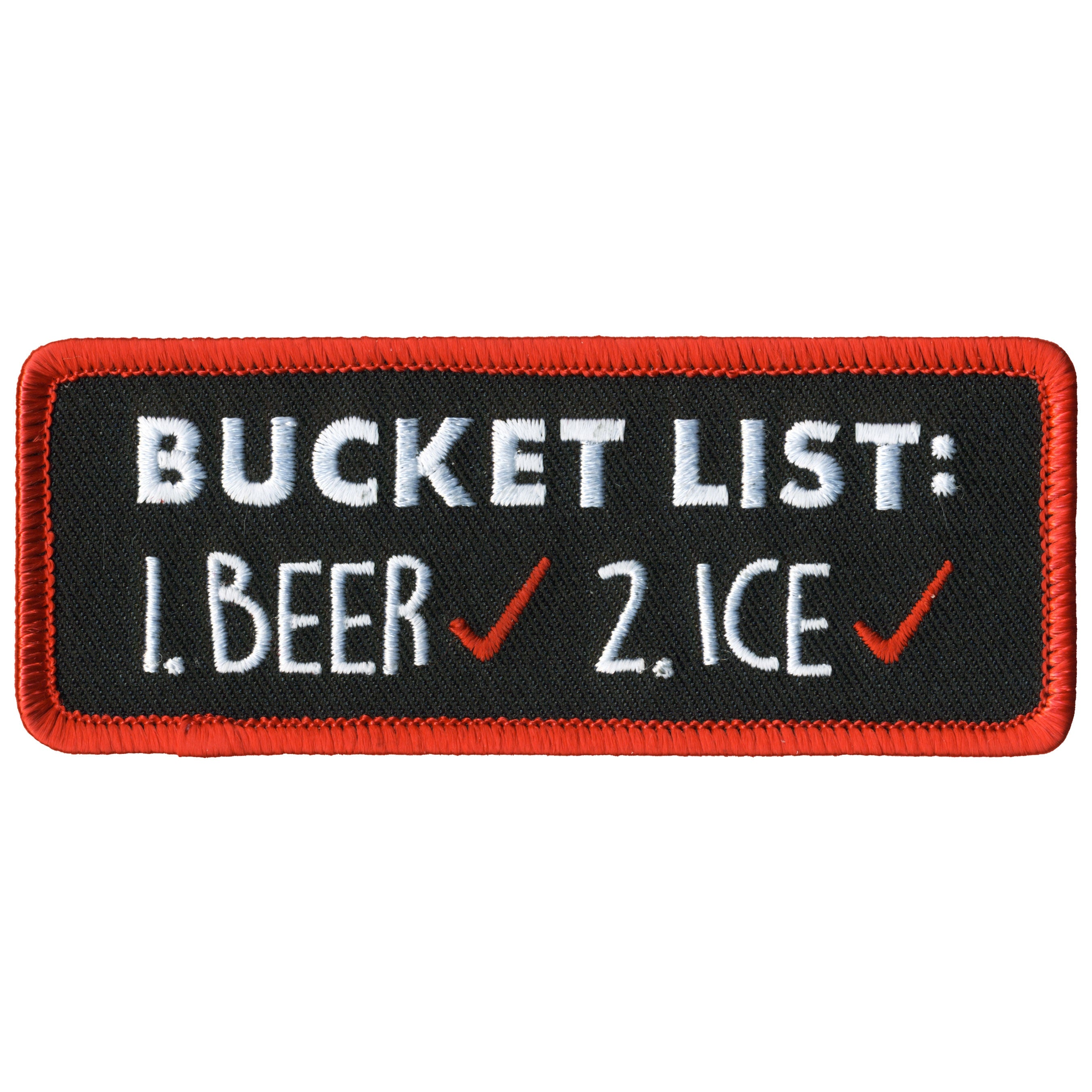 Hot Leather Bucket List Patch