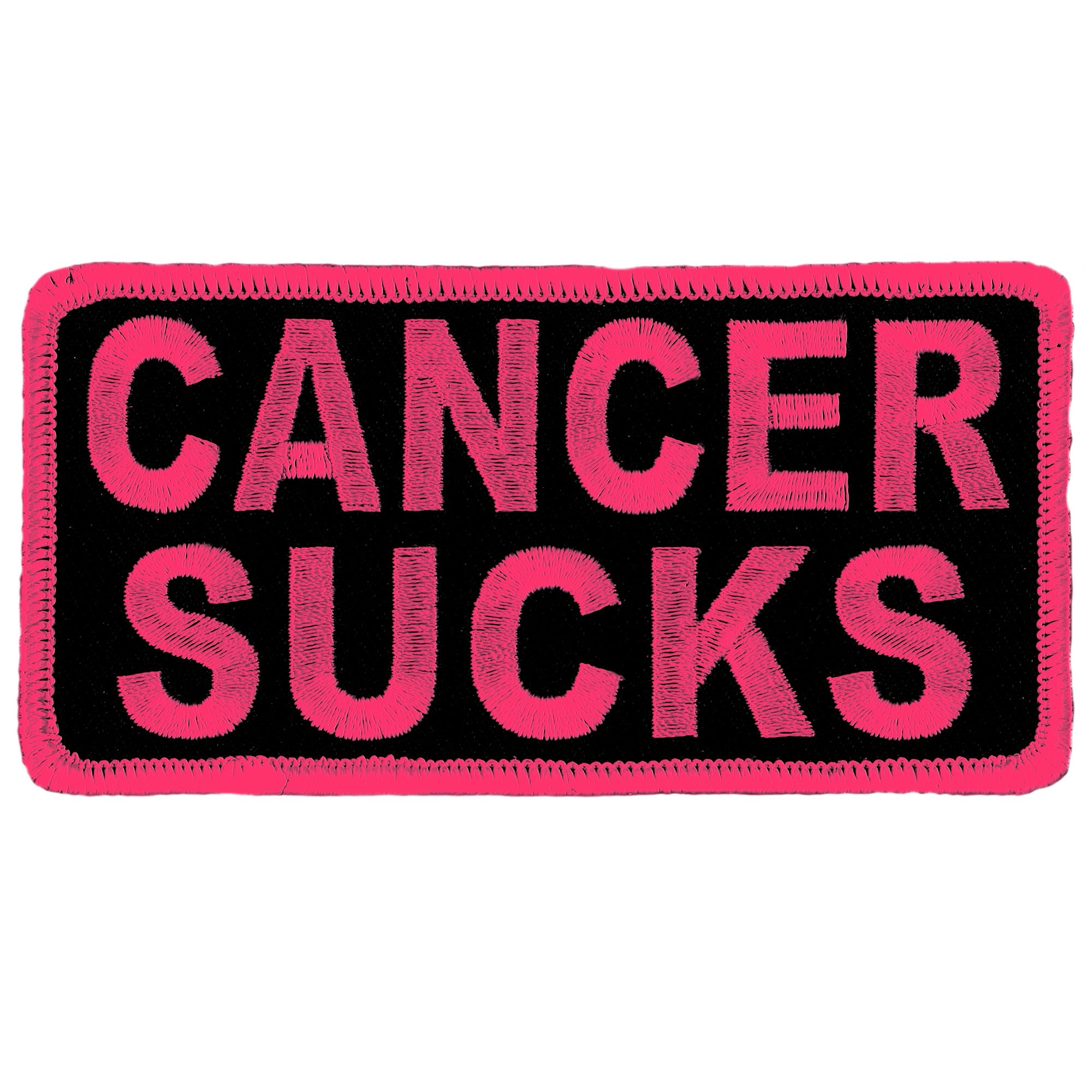 Hot Leathers Cancer Sucks Patch (Pink)