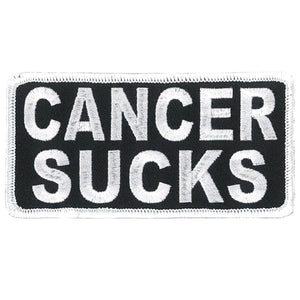 Hot Leathers Cancer Sucks Patch (White)