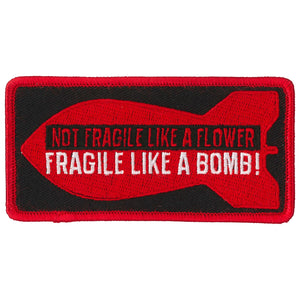 Hot Leathers Fragile Bomb Patch