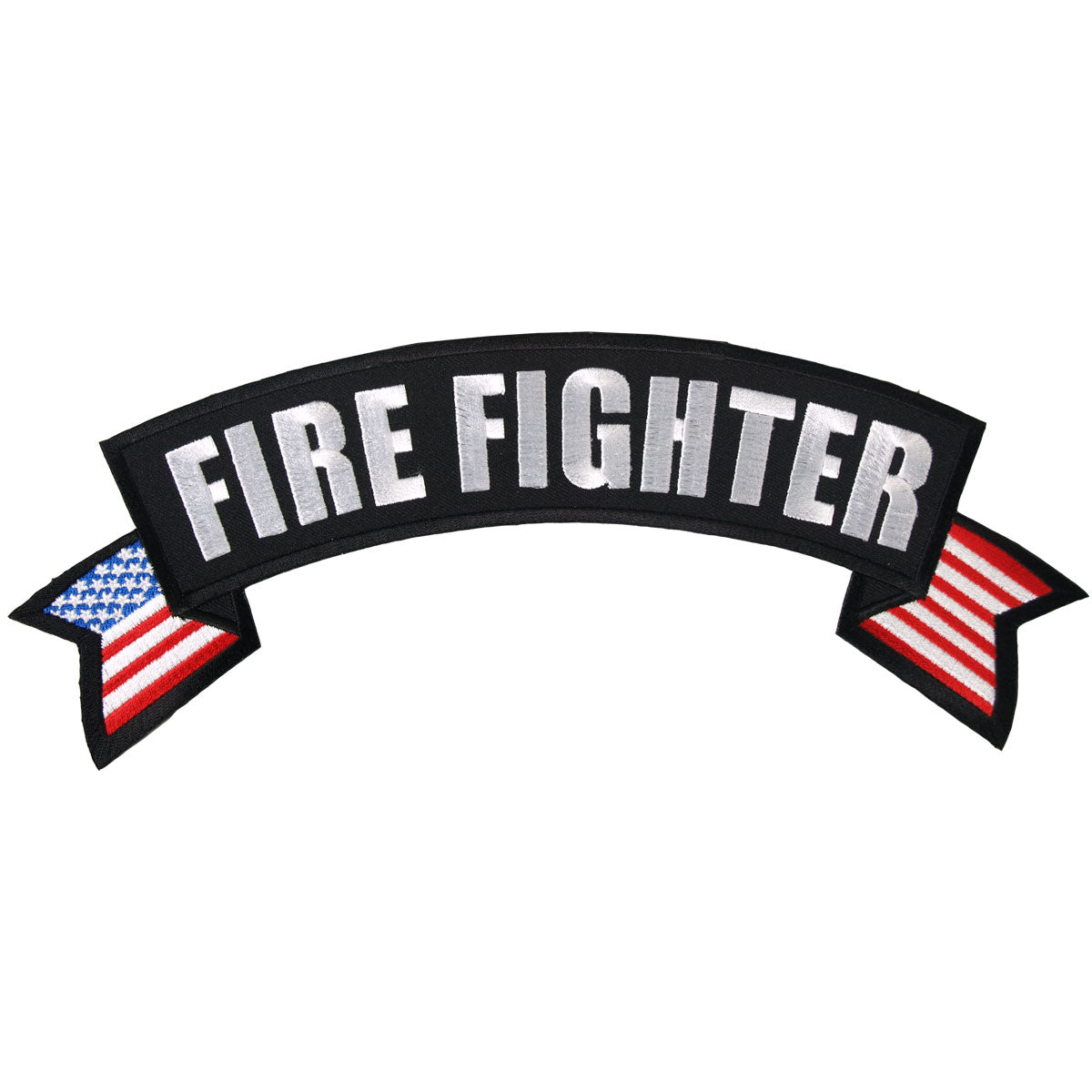 "Hot Leathers Fire Fighter Banner 11"" x 3"" Patch"