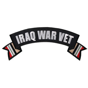 "Hot Leathers Iraq War Vet Banner 11"" x 3"" Patch"
