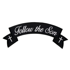 "Hot Leathers Follow The Son Banner 4"" x 1"" Patch"