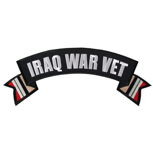 "Hot Leathers Iraq War Vet Banner 4"" x 1"" Patch"