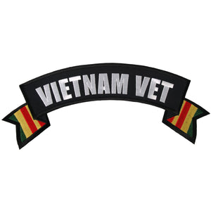 "Hot Leathers Vietnam Vet Banner 4"" x 1"" Patch"