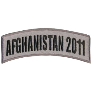"Hot Leathers Afghanistan 2011 4"" x 1"" Patch"