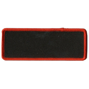 "Hot Leathers Blank w/ Red Trim 4"" x 1.5"" Patch"