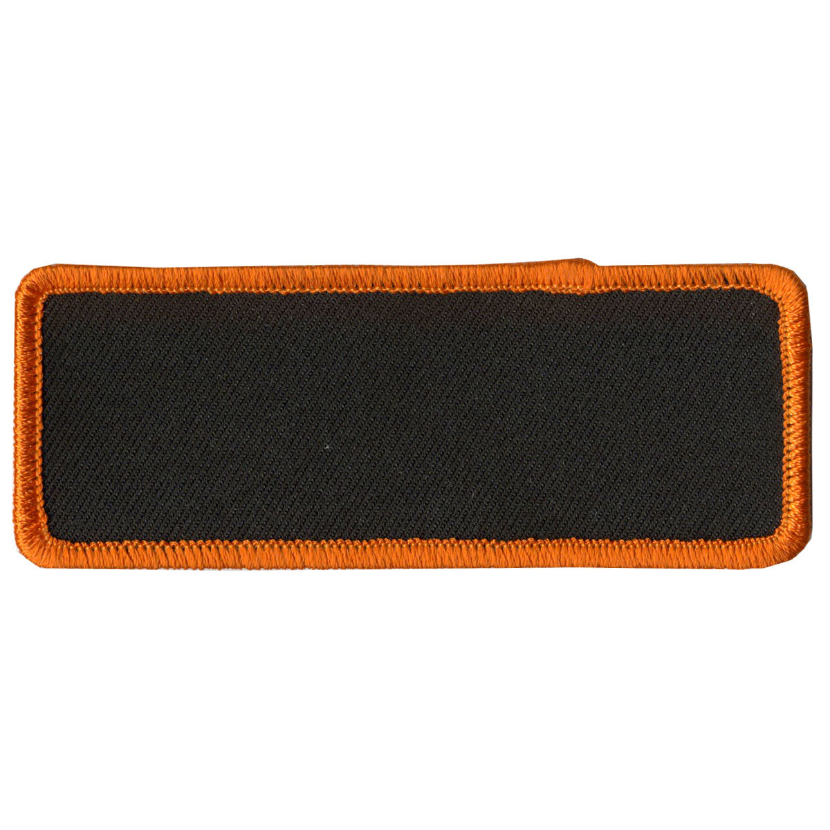 "Hot Leathers Blank w/ Orange Trim 4"" x 1.5"" Patch"