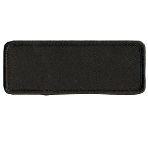 "Hot Leathers Blank w/ Black Trim 4"" x 1.5"" Patch"