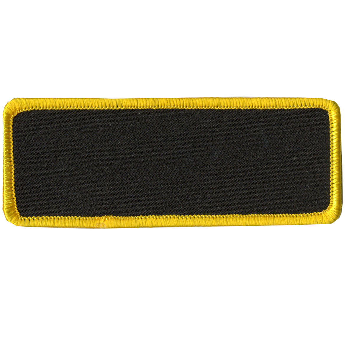 "Hot Leathers Blank w/ Yellow Trim 4"" x 1.5"" Patch"