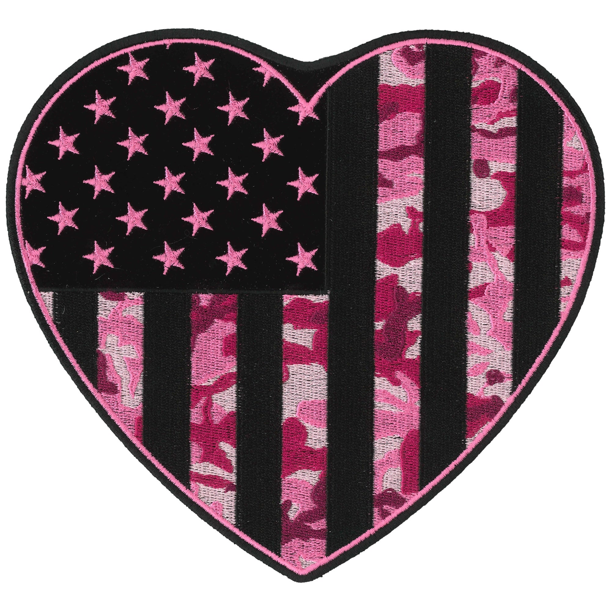 Hot Leathers Patch Camo Heart 7''