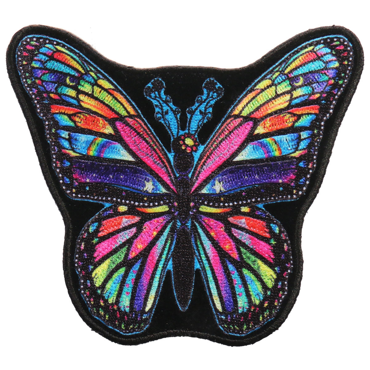 Hot Leathers Patch Rainbow Butterfly 4""