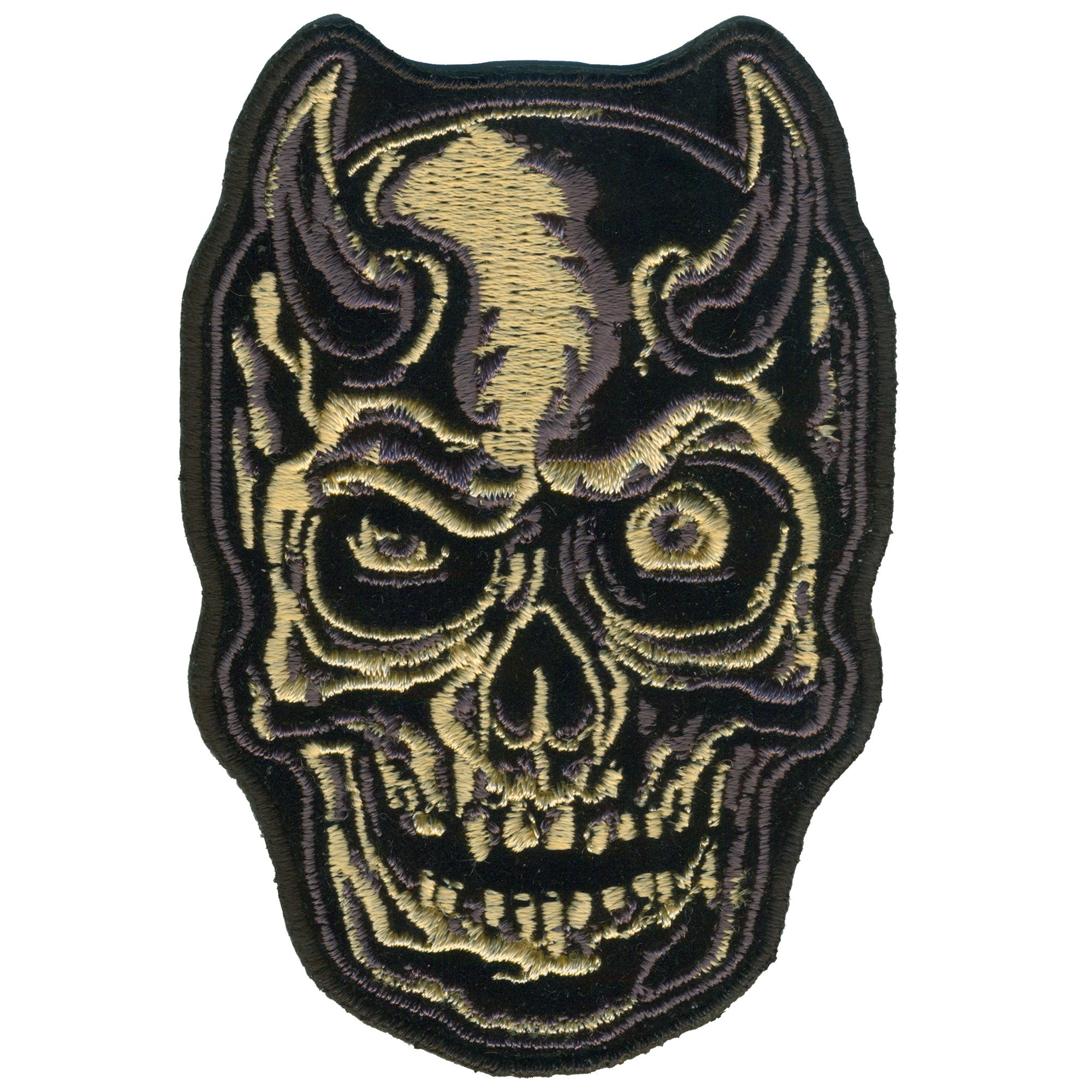 Hot Leathers Patch Devil Horn Skull 9''