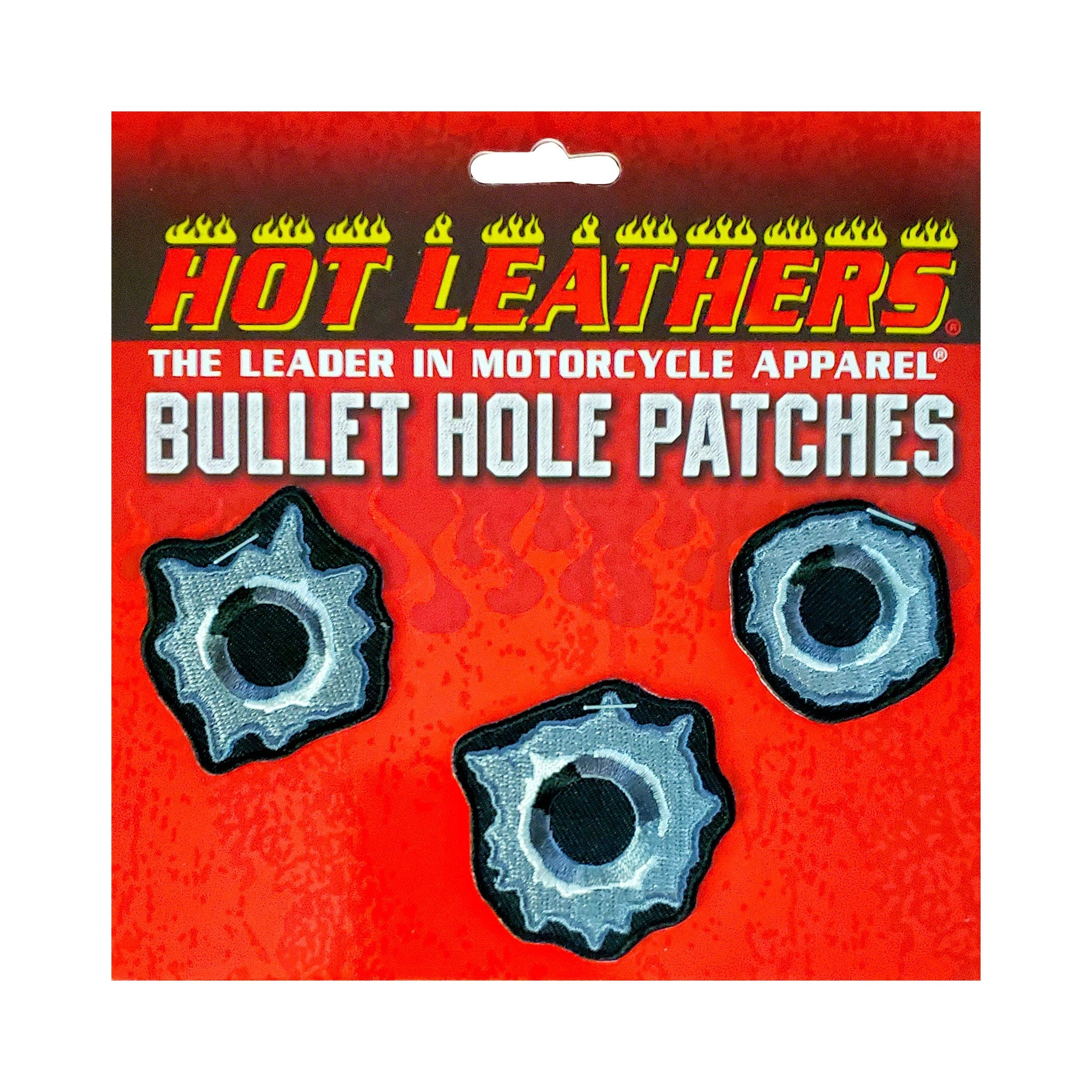 "Hot Leathers 2"" Bullet Hole Patches 3 Piece Set"