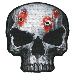 "Hot Leathers Jumbo Skull 4"" Patch"