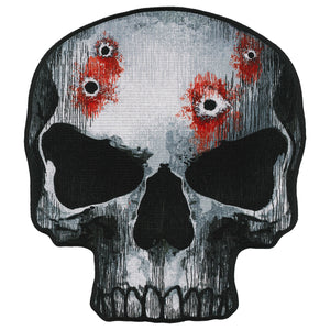 "Hot Leathers Jumbo Skull 10"" Patch"