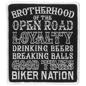 "Hot Leathers Brotherhood Road 5"" Patch"