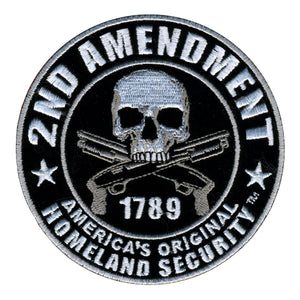 "Hot Leathers 2nd Amendment America's Original Homeland Security Hook Back 4"" x 4"" Patch"