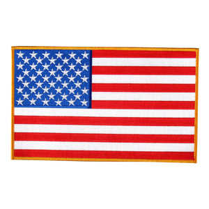 "Hot Leathers American Flag Hook and Loop 3"" x 2"" Patch"
