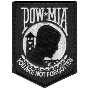 "Hot Leathers POW MIA Hook and Loop 3"" x 4"" Patch"