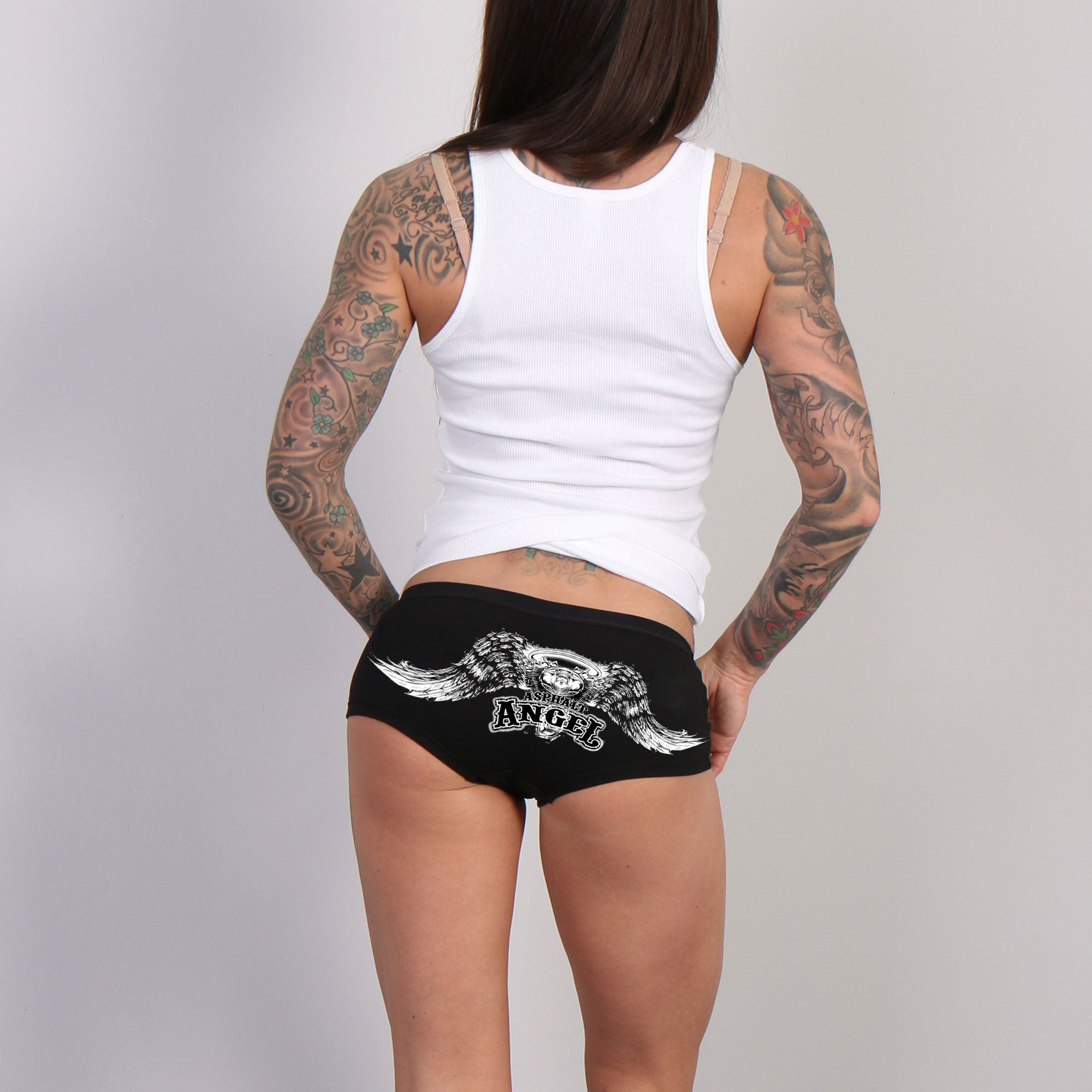Hot Leathers Asphalt Angel Boy Shorts