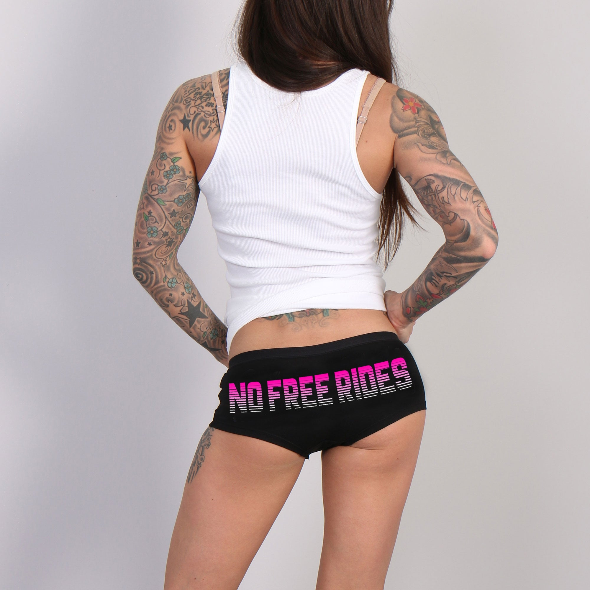 Hot Leathers No Free Rides Ladies Boy Shorts