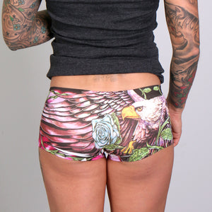 Hot Leathers Eagle Flowers Ladies Boy Shorts