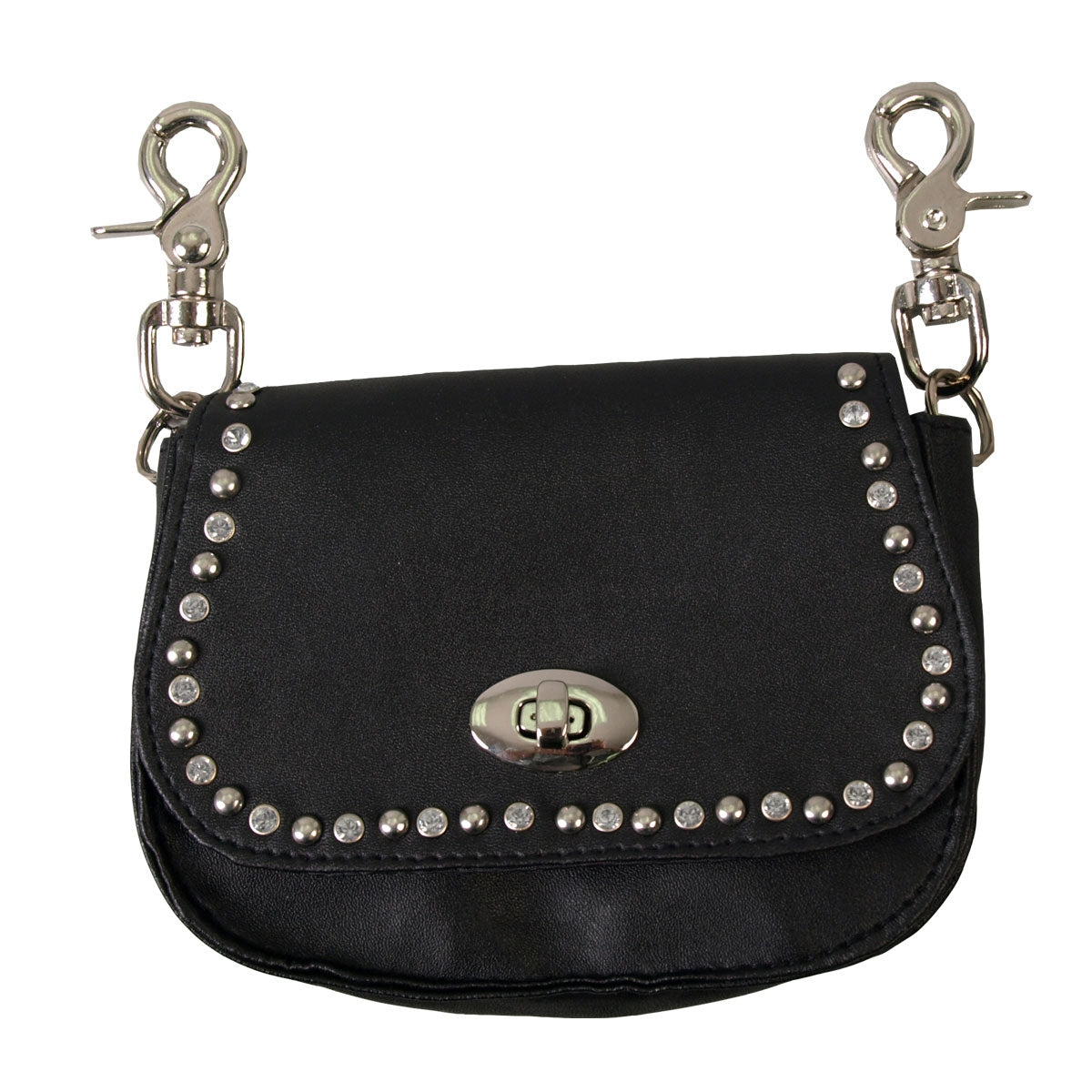 Hot Leathers Stud & Rhinestone Clip Pouch w/Detachable Strap
