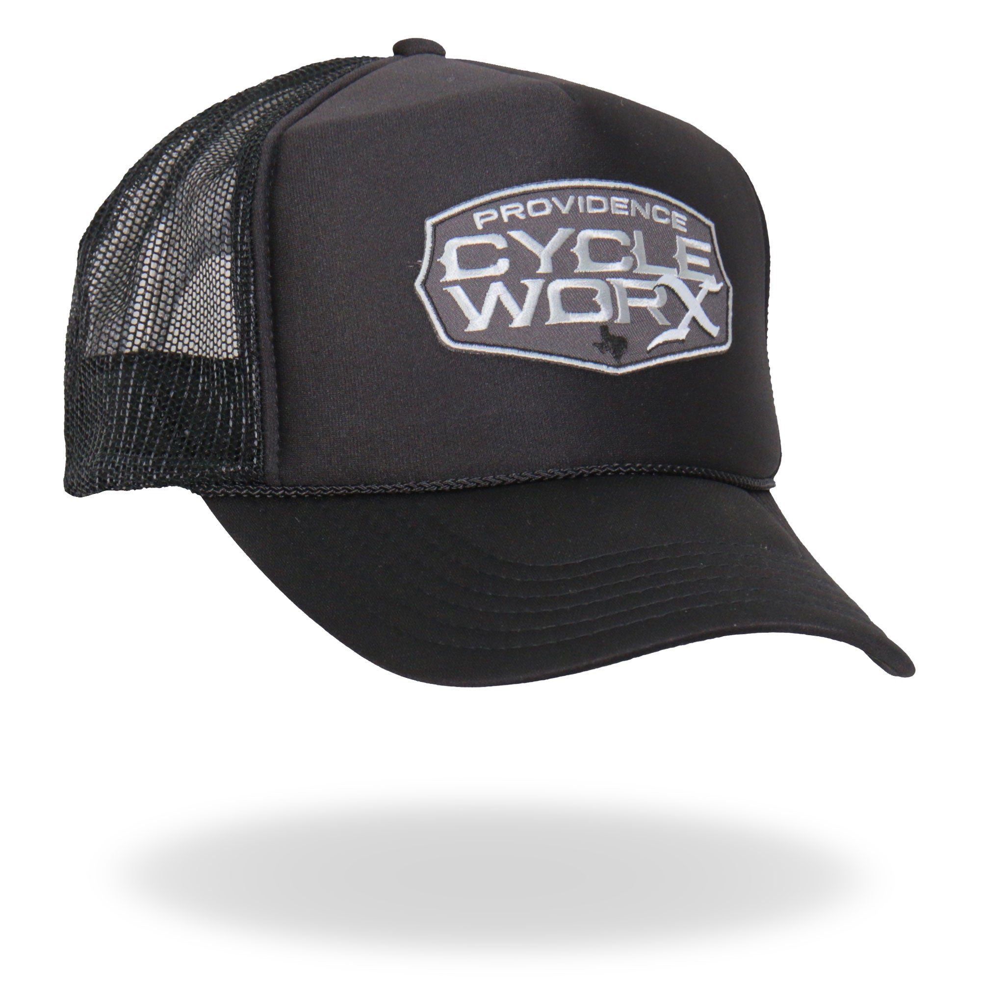 Official Providence Cycle Worx Gray Patch Trucker Hat