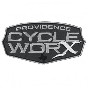 Official Providence Cycle Worx Gray Logo Patch