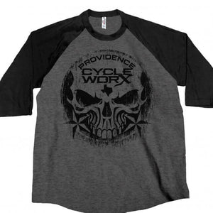 Official Providence Cycle Worx Skull Raglan 3/4 Sleeve