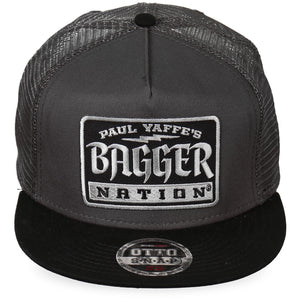 Official Paul Yaffe's Bagger Nation Gothic Gray Snapback Ball Cap