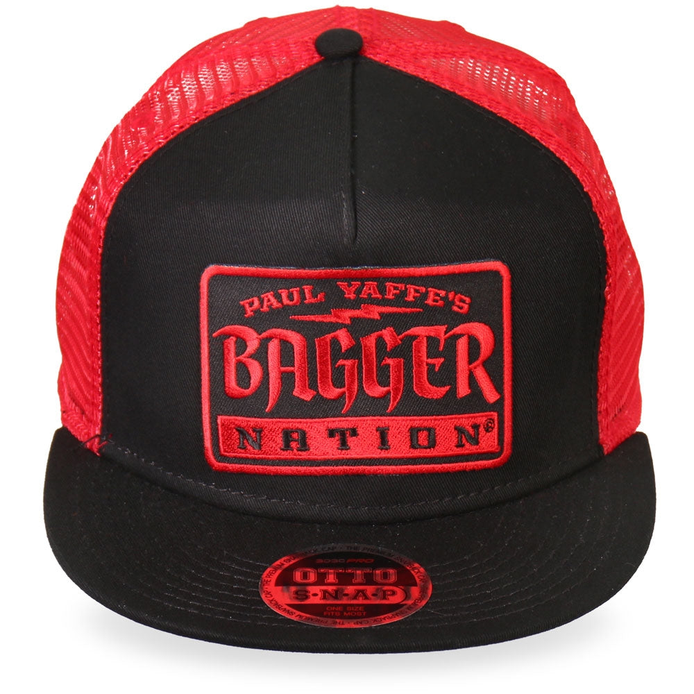 Official Paul Yaffe's Bagger Nation Gothic Red Snapback Ball Cap