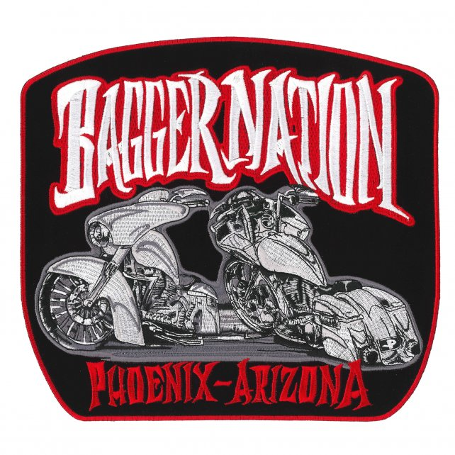 "Official Paul Yaffe's Bagger Nation Twin Bikes 10"" Patch"
