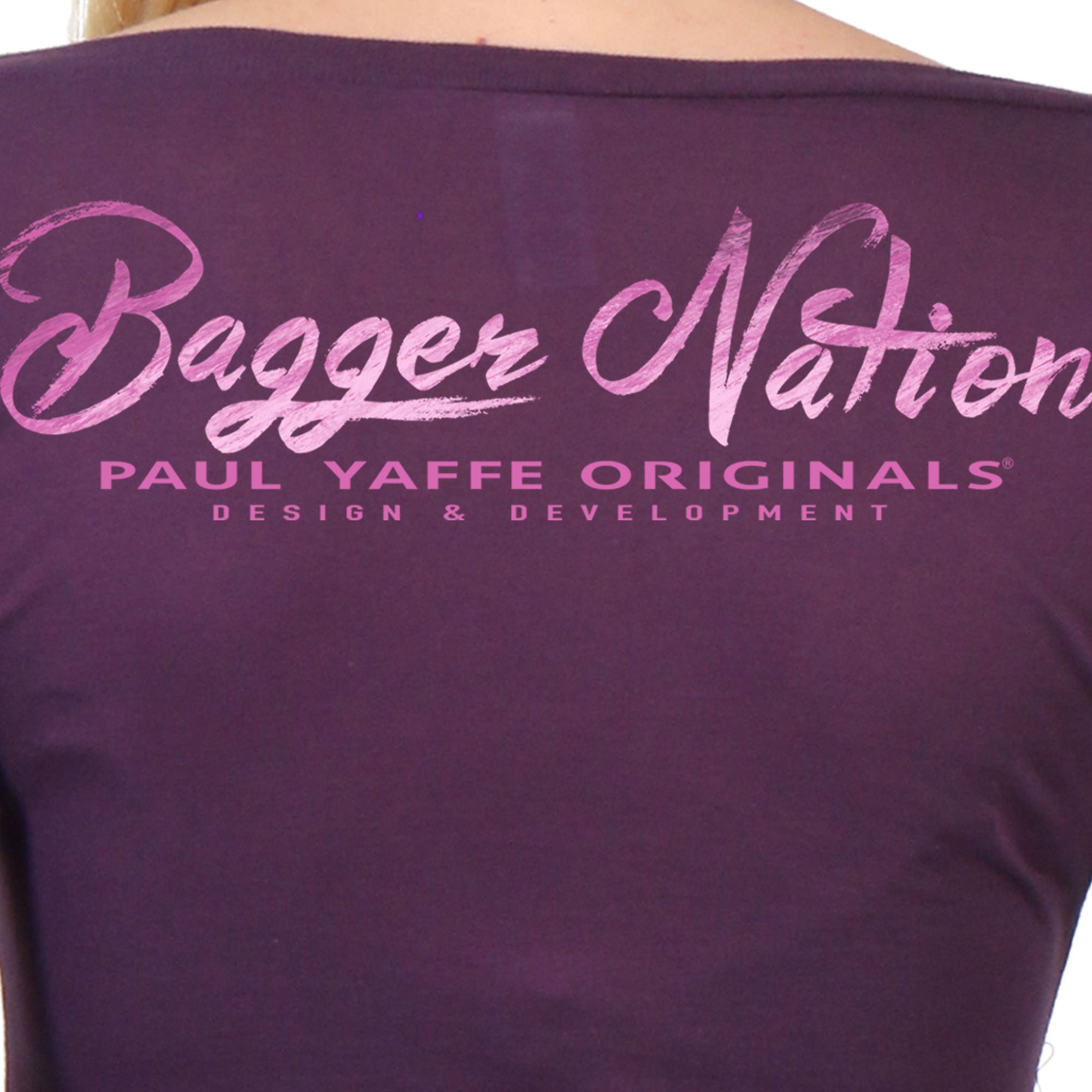 Official Paul Yaffe's Bagger Nation Rubber Knucky Ladies Long Sleeve