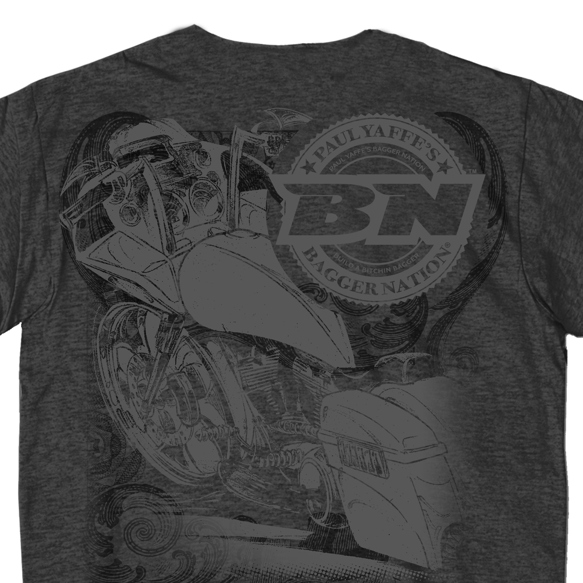 Official Paul Yaffe's Bagger Nation Jumbo Script T-Shirt
