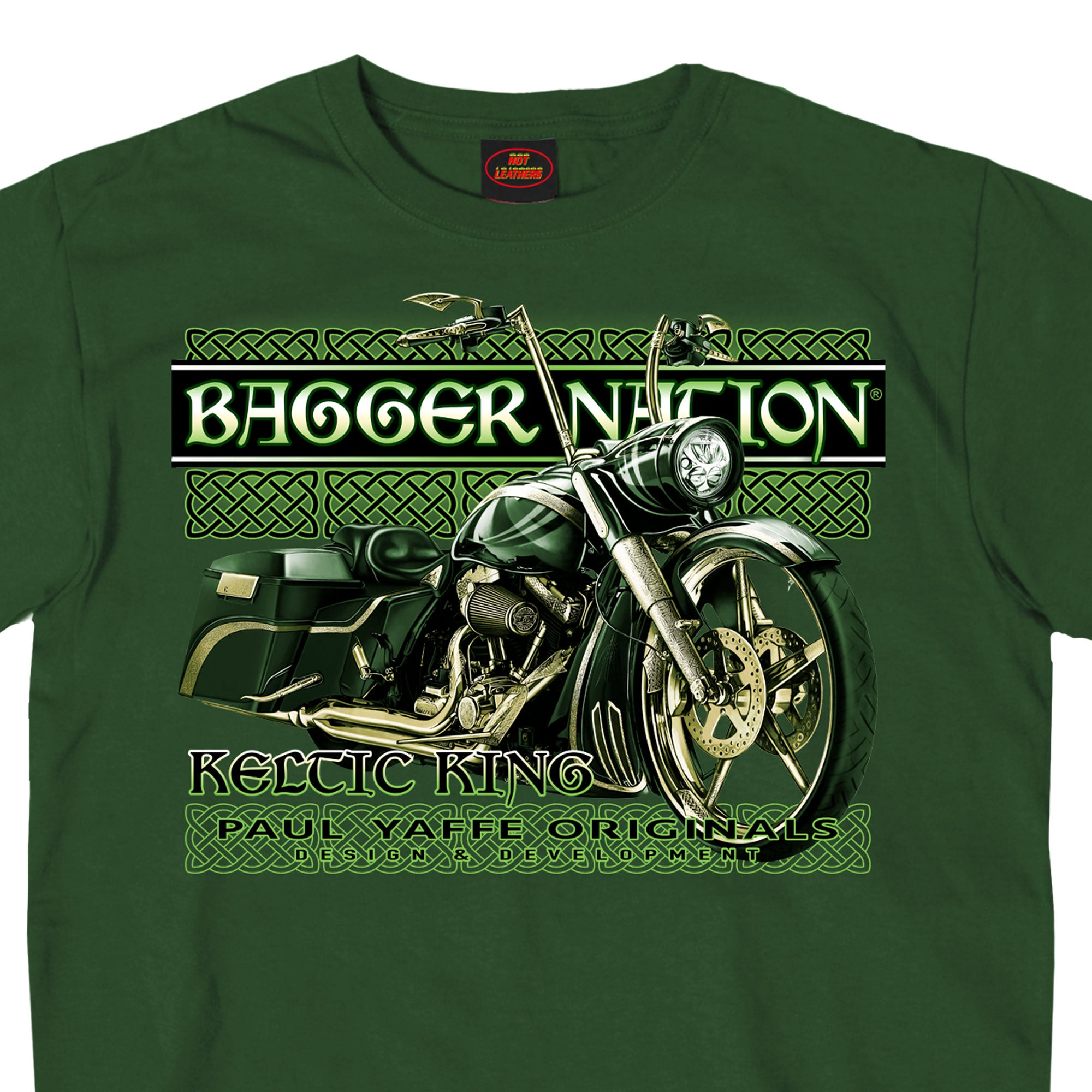 Official Paul Yaffe's Bagger Nation Keltic King Two Sided Mens T-Shirt
