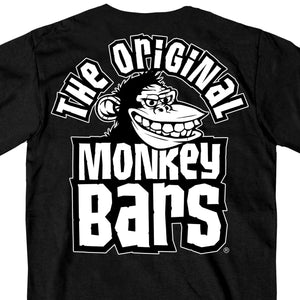 Official Paul Yaffe's Bagger Nation Monkey Bars Double Sided Black T-Shirt