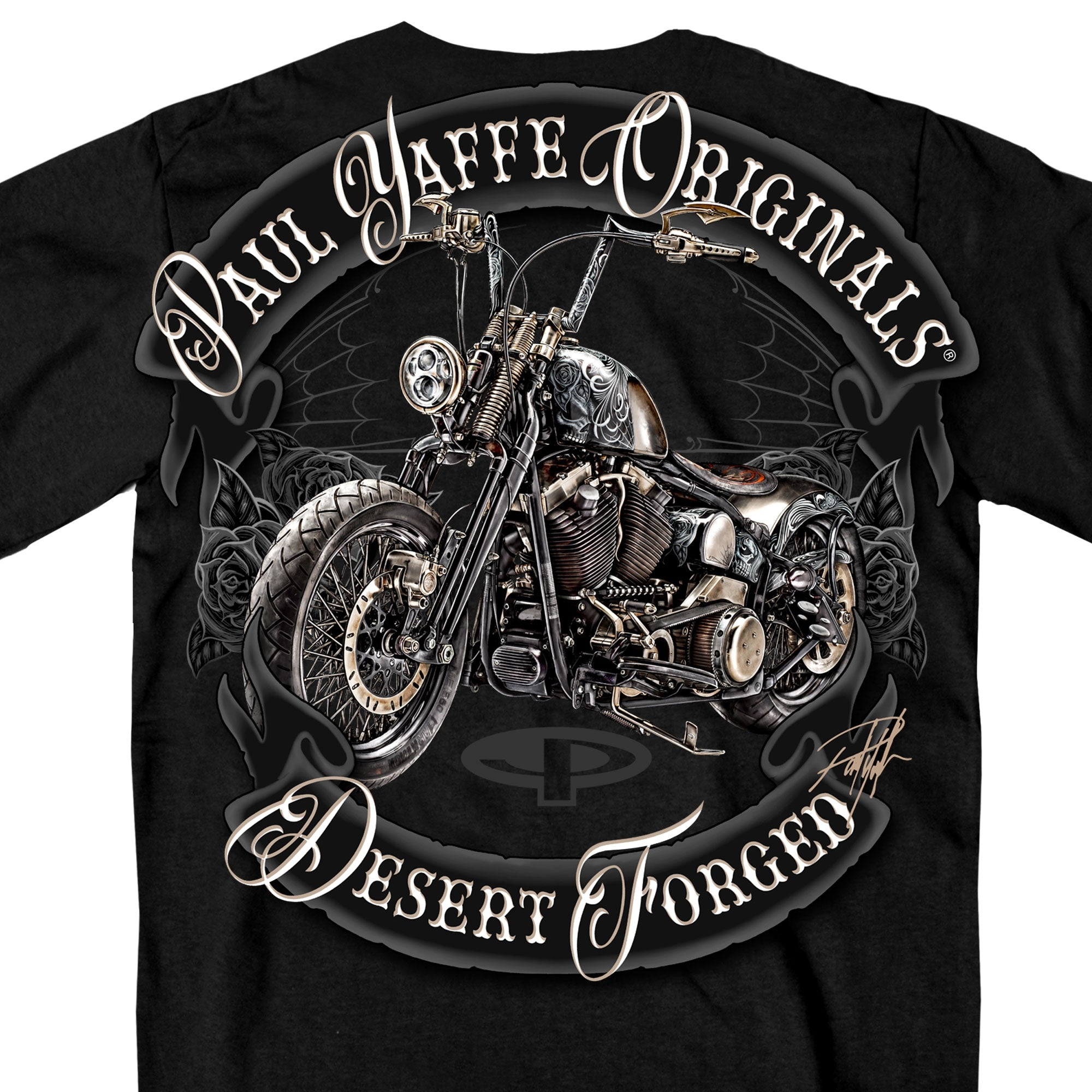 Official Paul Yaffe's Bagger Nation Desert Forged Double Sided T-Shirt