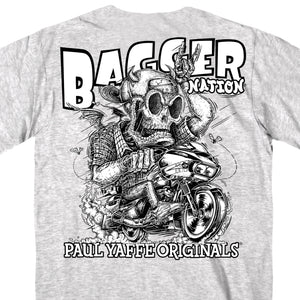 Official Paul Yaffe's Bagger Nation Monster Double Sided T-Shirt