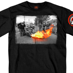 Official Paul Yaffe's Bagger Nation Fire Show T-Shirt