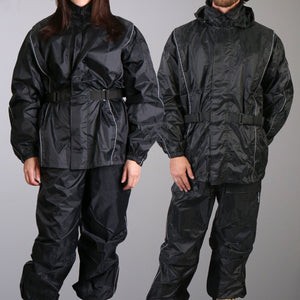 Hot Leathers Nylon Rain Suit w/Tote