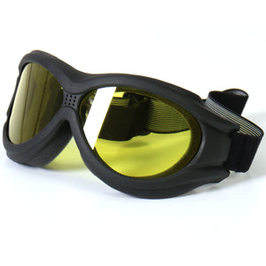 Hot Leathers Big Ben Goggles with Yellow Lenses
