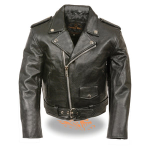 Milwaukee Leather SH2010 Toddlers Black Classic Motorcycle Leather Jacket - Milwaukee Leather Toddlers Leather Jackets