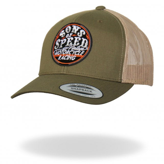 Official Sons of Speed Logo Khaki Trucker Hat